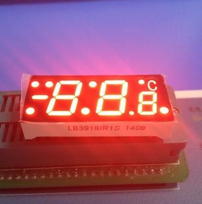 China SGS Red  7 Segment Display For Digital Temperature Controller , Common Cathode 7 Segment Display supplier