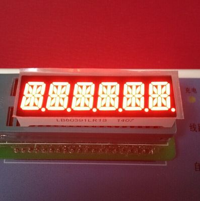 China Super Bright Red 6 Digit 14 Segment Led Display 10mm For Taximeter supplier