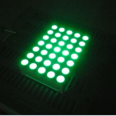 China Pure Green 5x7 Dot Matrix 3mm LED Lights Moving Message Signs supplier