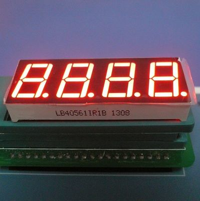 "China High Brightness 0.56"" 4 Digit 7 Segment Led Display Ultra Red For Temperature Indicator supplier"