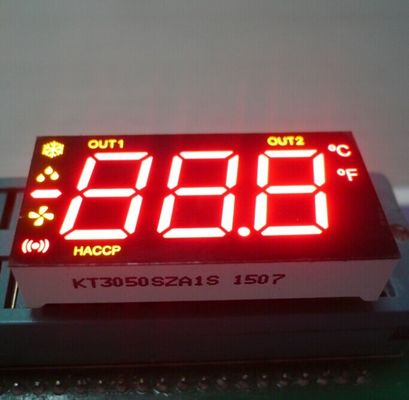 China Ultra Red / Yellow 7 Segment LED Display 0.5 Inch Common Anode For Refrigerator Control supplier