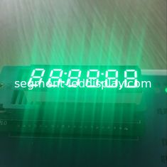 "China Long Lifetime Digital Clock Display Pure Green 0.36"" 6 Digit For Instrument Panel supplier"