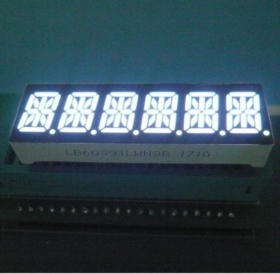 China Six Digit 14 Segment LED Display 80-100mcd/ Dice Luminous Intensity Easy Mounting supplier