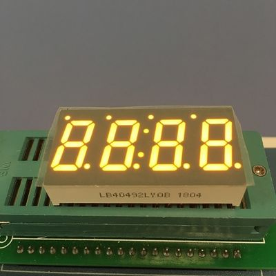 "China 0.49 "" LED 7 Segment Display Amber Color For Temperature Indicator supplier"