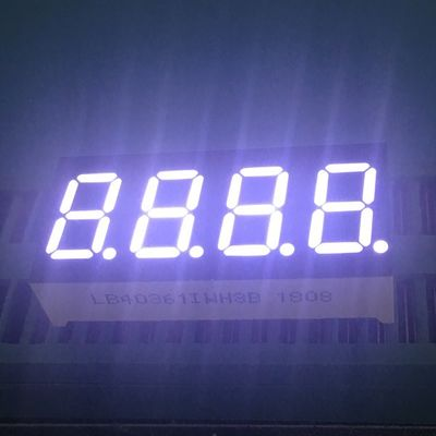 "0.36"" 4 Digit 7 Segment LED Display IC Compatible Low Power Consumption"