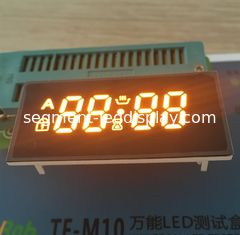 Bright Amber 4 Digit Seven Segment Display Common Anode For Oven Timer Control