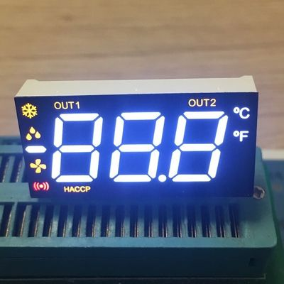China Multicolour  Triple  Digit 7 Segment LED Display For Refrigerator with 90 degree pin bending supplier