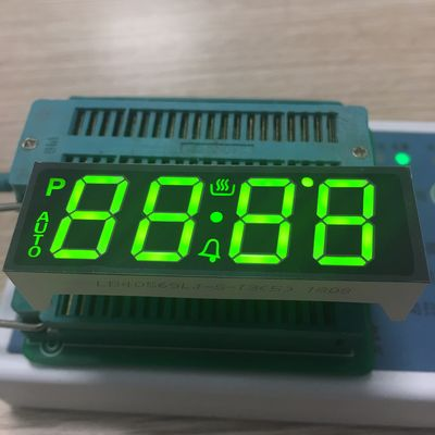 China SMT PINS Custom LED Display 7 Segment 4 Digit Super Bright Green For Oven Controller supplier