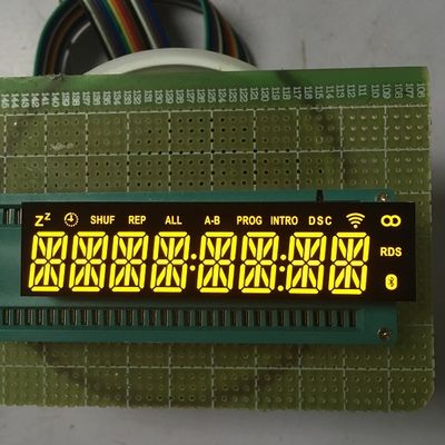 Common Cathode Custom LED Display Ultra Bright Amber 8 Digit 14 Segment Long Lifespan