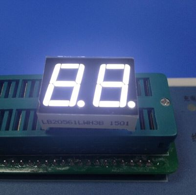 China Easy Assembly 2 Digit 7 Segment Led Display , Seven Segment Led Display Ultra Bright White supplier