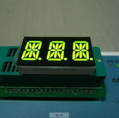 China Super Amber 3 Digit 14 Segment LED Display Full Color 0.56 Inch For Digital Indicator supplier