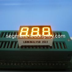 Triple Digit 7 Segment LED Display Yellow Color For Electric Oven / Microwave