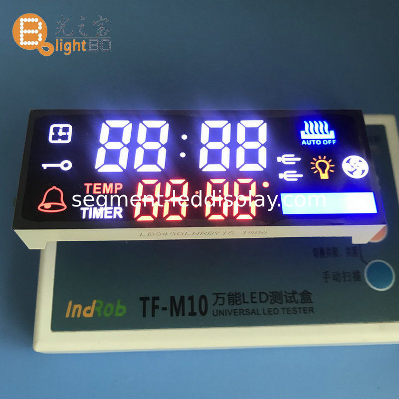 Multicolour Custom LED Display Wide Viewing Angle For Oven Timer Control Panel supplier