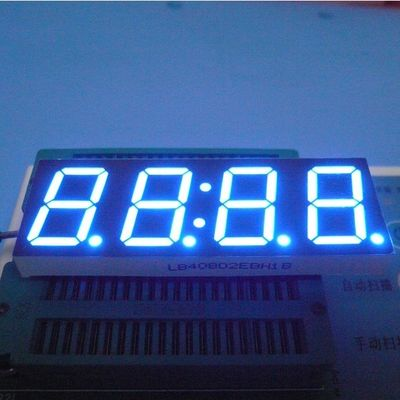 0.8 Inch 4 Digit Seven Segment Display Ultra Bright Blue Stable Performance