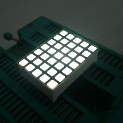 White 5x7 Dot Matrix LED Display High Efficiency Programmable LED Display