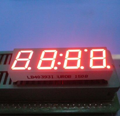 "Ultra Red 0.39"" Led Clock Display Common Anode 4 Digit 7 Segment For Instrument Panel"