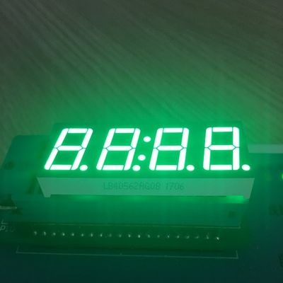 Pure Green 4 Digit 7 Segment Led clock Display 0.56 Inch  common anode For Instrument Panel