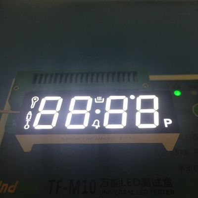 Black Face LED 7 Segment Display 4 Digit Ultra White For Gas Cooker