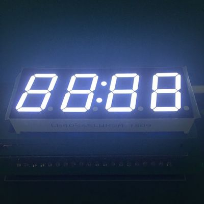 "High Brightness 0.56"" LED Clock Display Ultra White Color Low Power Consumption"