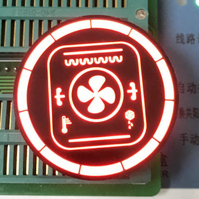 Round Shape Customized  7 Segment LED Display For Temperature Control