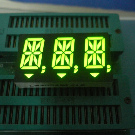 0.56 Inch 14 Segment Led Display common anode Super bright green For instrument panel