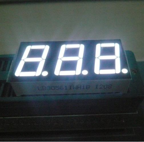 "Pure Green 3 Digit Seven Segment LED Display 0.56 ""  For Instrument Panel"
