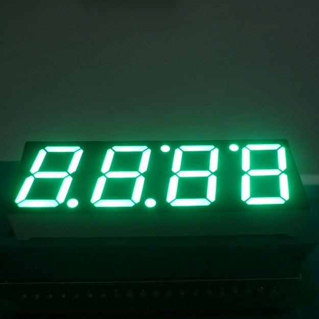 Super Green 0.56 Inch Clock LED Display , Common Anode 7 Display