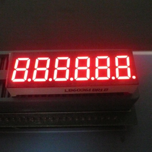Electronic Scales 6 Digit  7 Segment LED Display 0.36 Inch Ultra Bright Amber