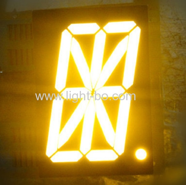 Pure green 16 Segment LED Display single digit for digital read-out panel