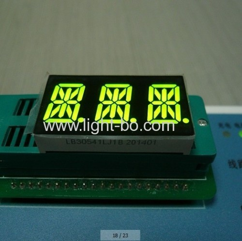 Triple Digit 14 Segment LED Display Common Cathode Red for Instrument Panel