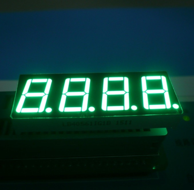 "High Brightness 0.56"" 4 Digit 7 Segment Led Display Ultra Red For Temperature Indicator"