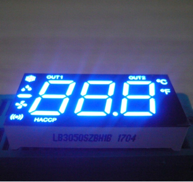 Ultra Red / Yellow Numeric LED Display 0.5 inch for Refrigerator Control