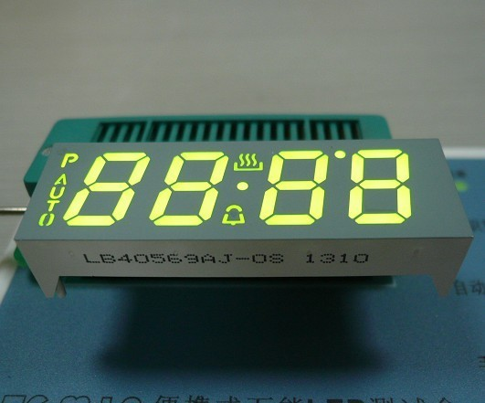 Ultra White Custom LED Display , Seven Segment Display Common Anode For Oven Timer